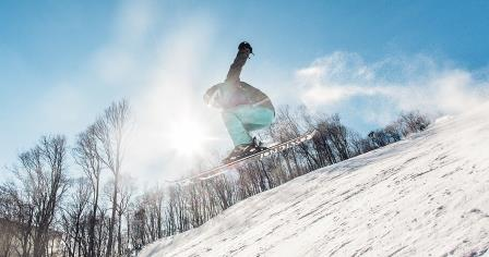 Snowboarding in Boone